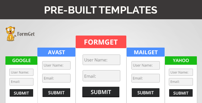 ReadyMade Form Templates FormGet - Google form design template