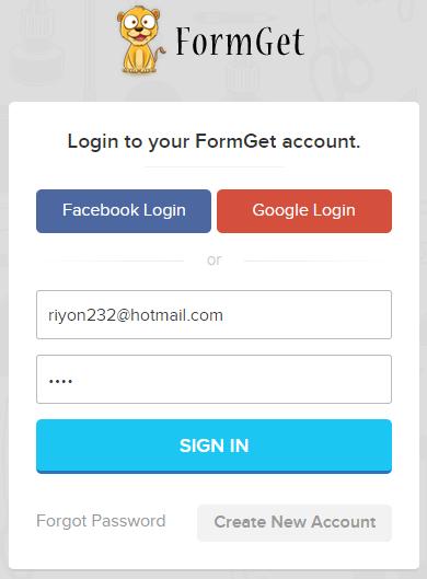 formget-login-page