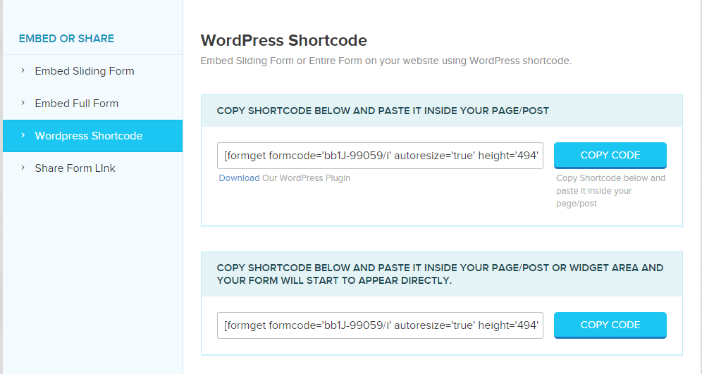 wordpress-short-code-of-form