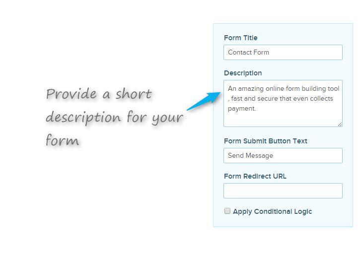 edit description text for form