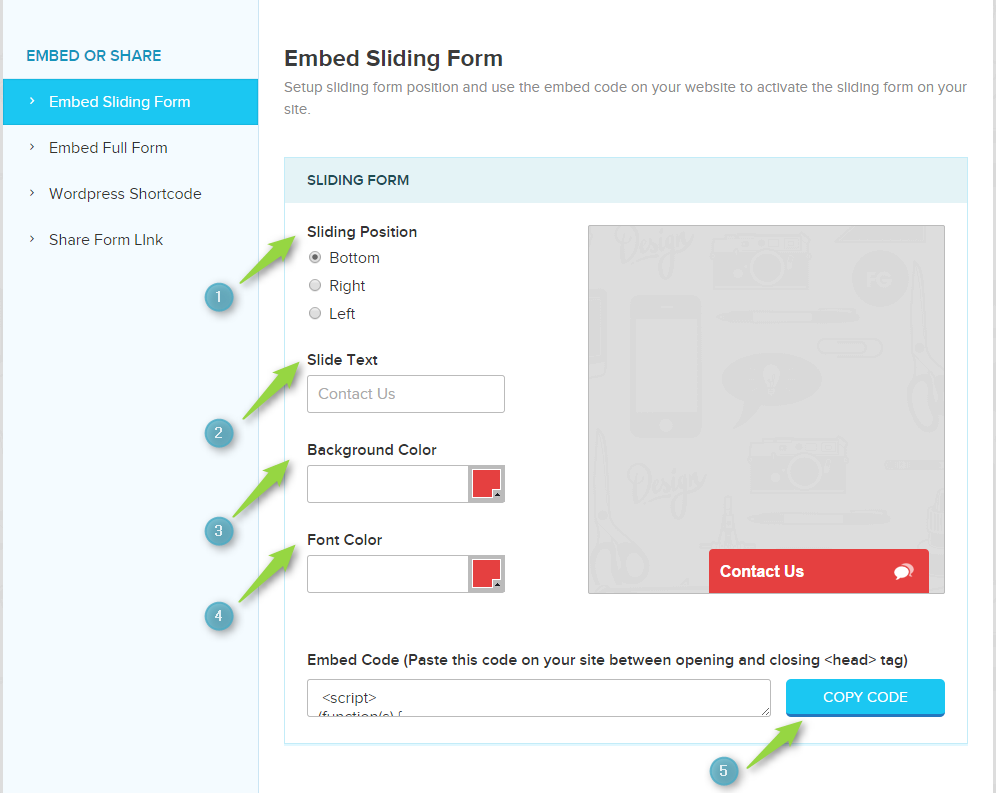 embed-sliding-form