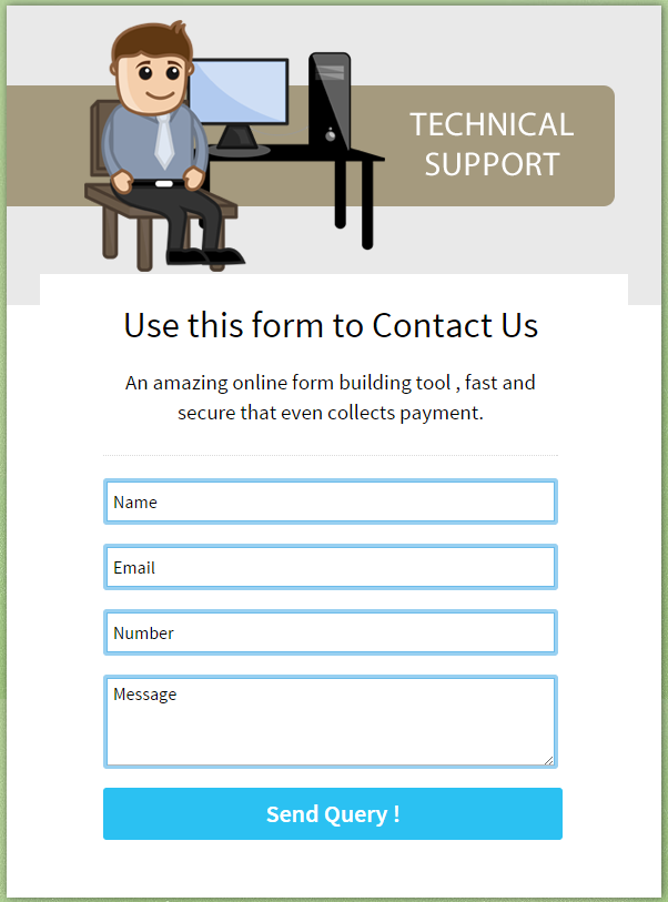 formget contact form view