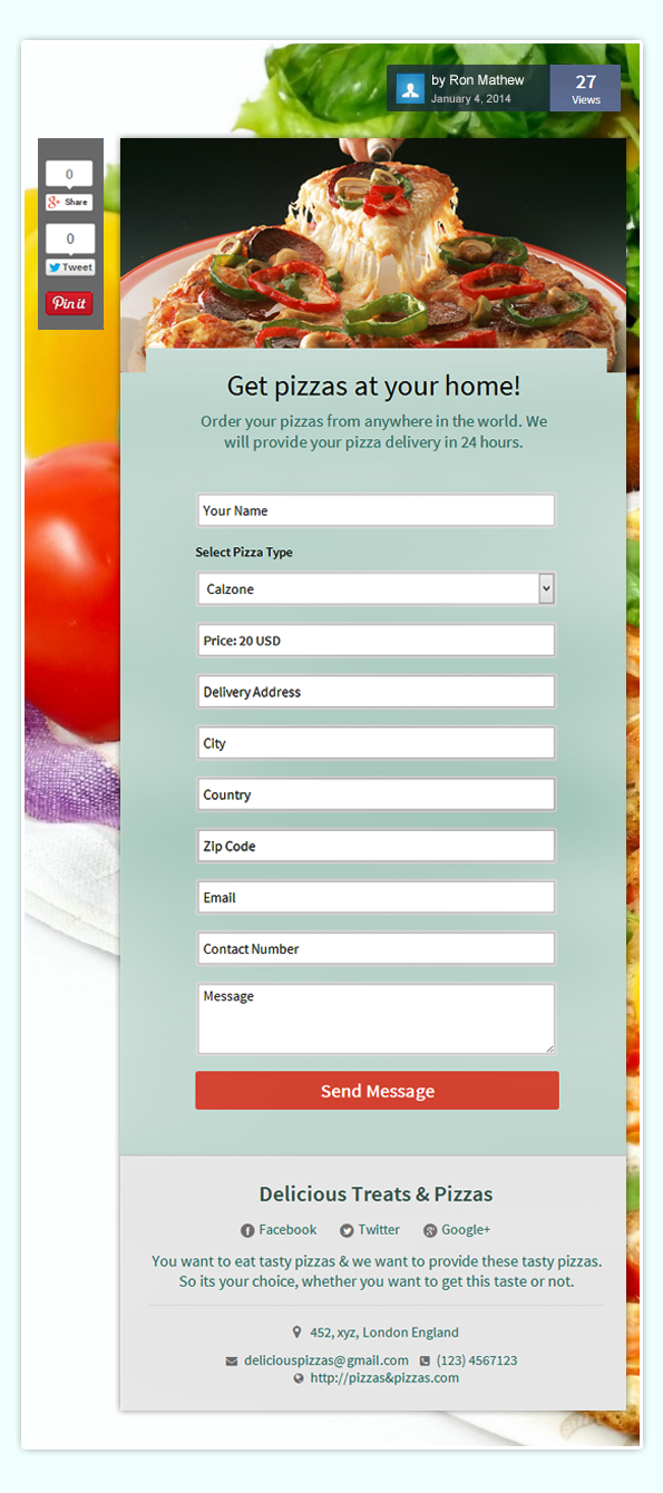 pizza order form template - how to maximize sales of your services through your forms