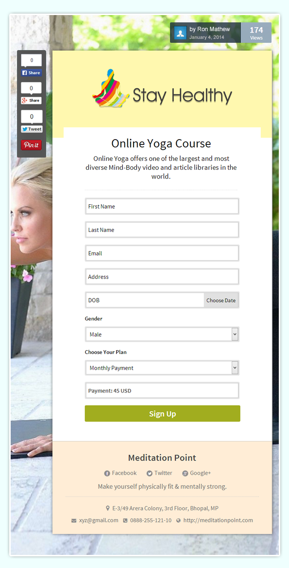 formget-yoga-video-order-form