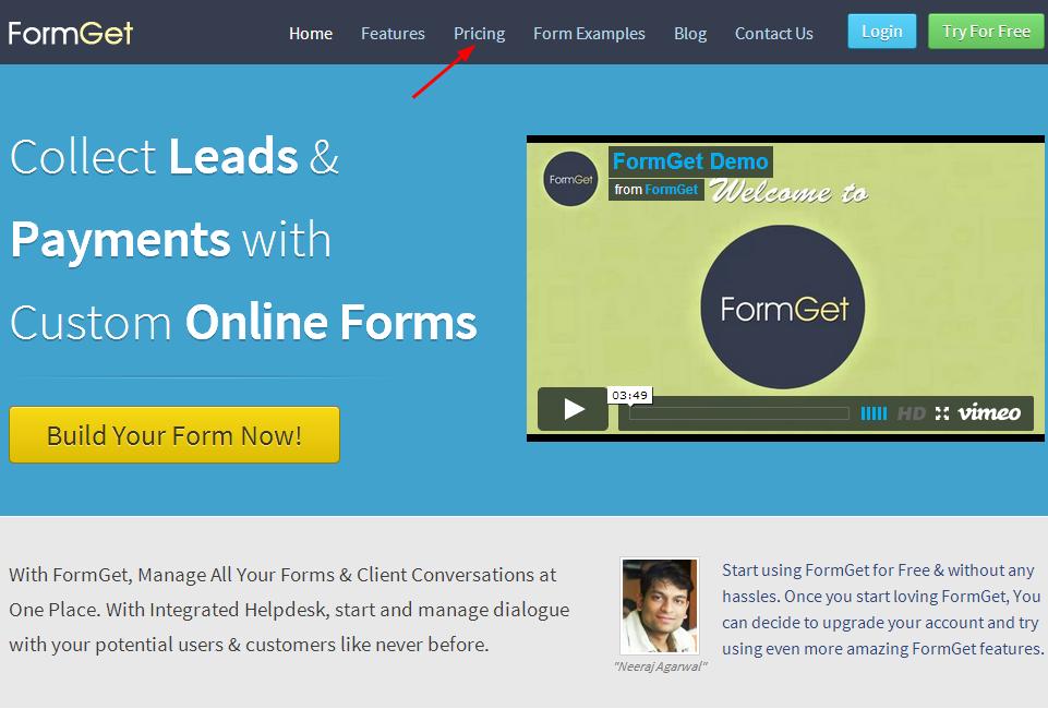 FormGet-pricing