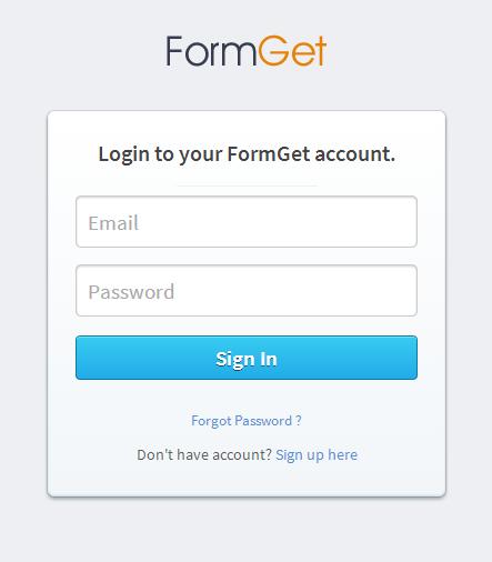 FormGet login