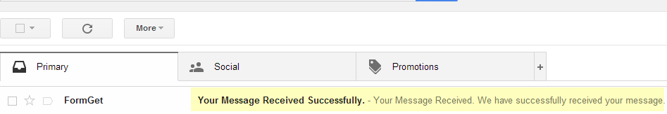 notification in mail account