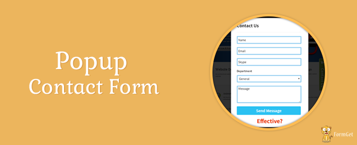 Best Way to Grow Email Subscription : Popup Contact Form