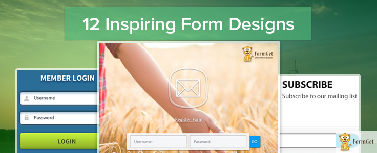 12 Inspiring Form Designs You Will Love To See (With PSD)