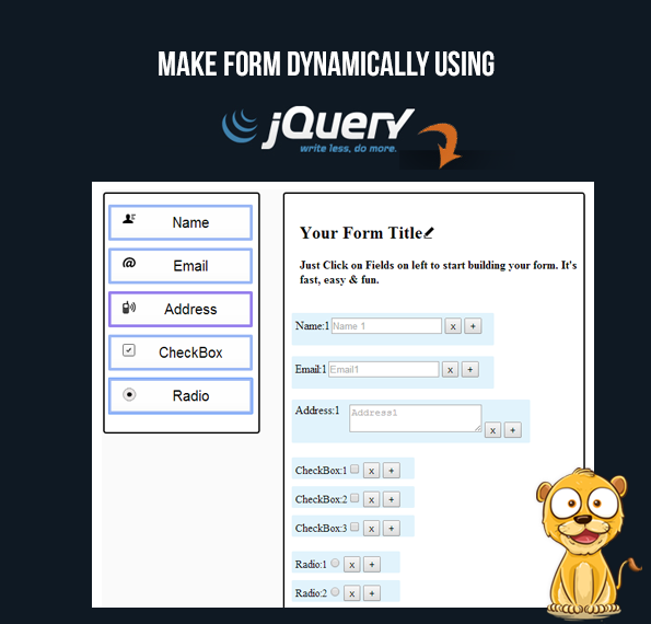 dynamic form jquery