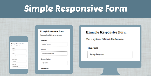 How to make simple responsive form using css html formget for Responsive stylesheet template