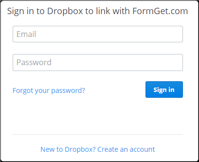 Form Dropbox Uploader