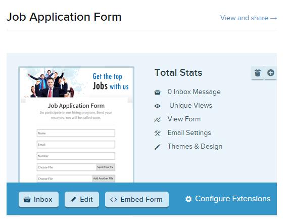Form Dropbox Uploader