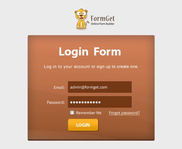login form design