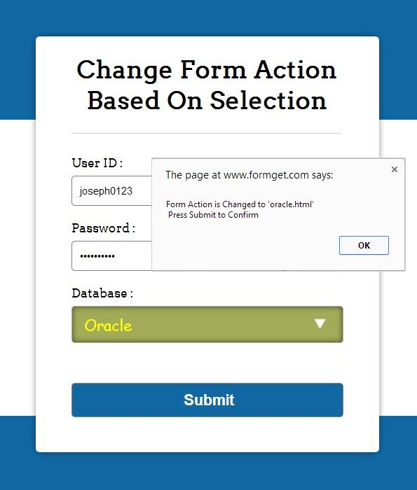 dynamically change form action using jQuery