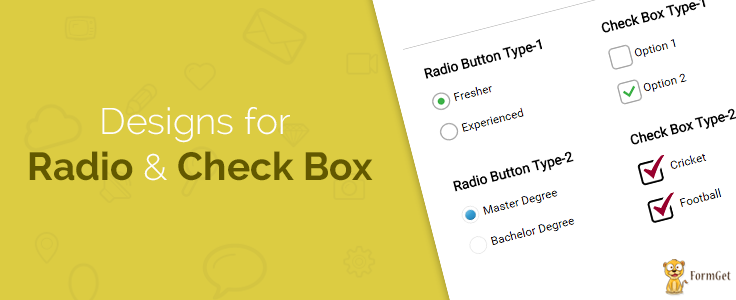 Customized Checkbox And Radio Button With Css3 Formget