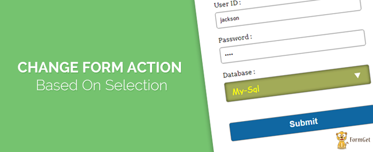 Dynamically Change Form Action Based on Selection Using jQuery