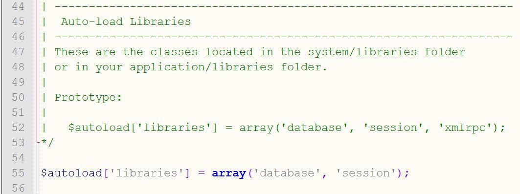 codeigniter-library-settings