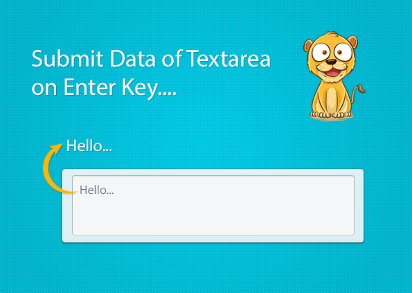 submit text area data using enter key