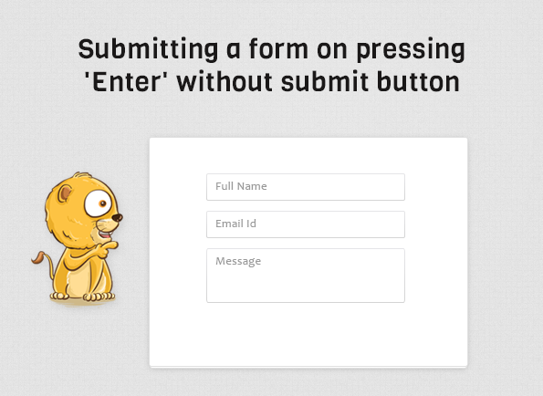 submit form on pressing enter key