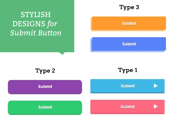 multiple designs for submit button