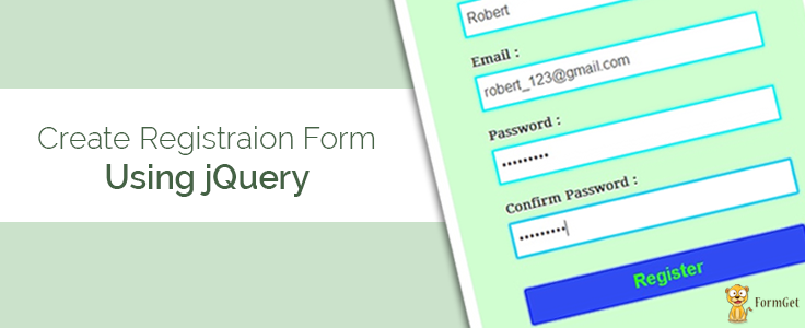 Create simple registration form using jquery formget altavistaventures Image collections