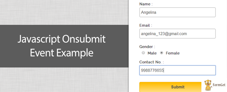 JavaScript Onsubmit Event with form validation