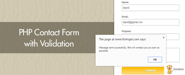 Validating forms using php to send