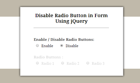 jquery-enable-disable