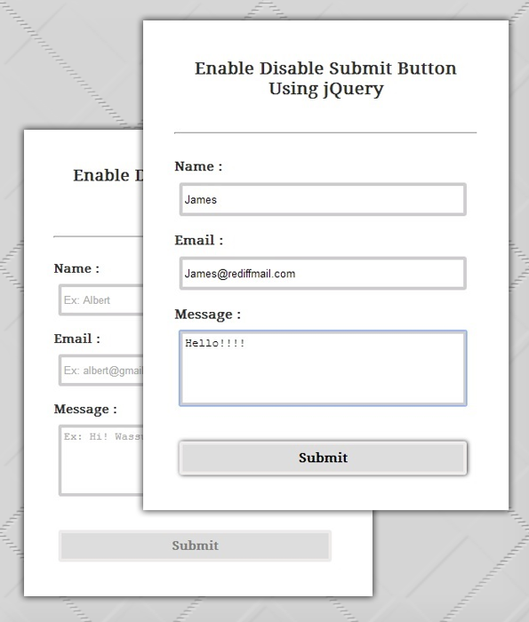enable-disable submit button using jQuery