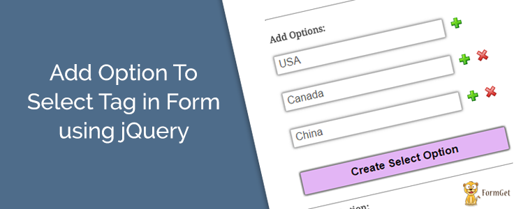 jQuery Add Option to Select Tag in Form