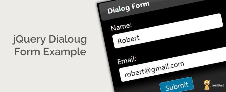 jQuery Dialog Box Form Example