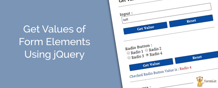 jQuery Get Value Of Input, Textarea and Radio Button