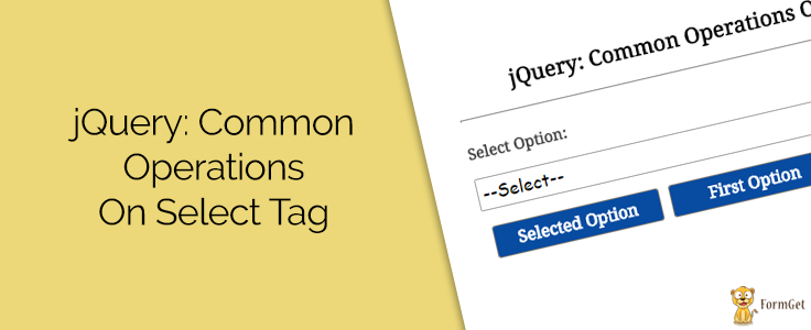 jQuery Select option Tag Common Operations
