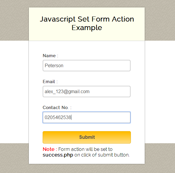 Setting Form Action In Javascript