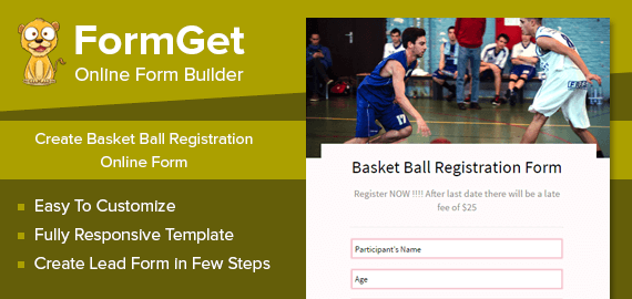 Basket Ball Registration Form Slider