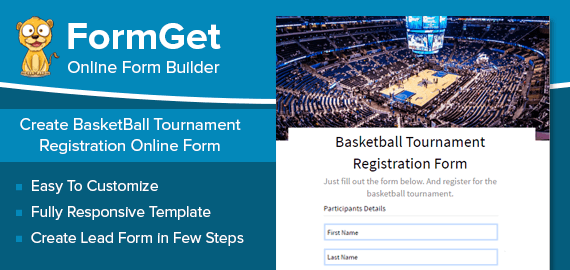 BasketBall Tournament Registration Form Slider