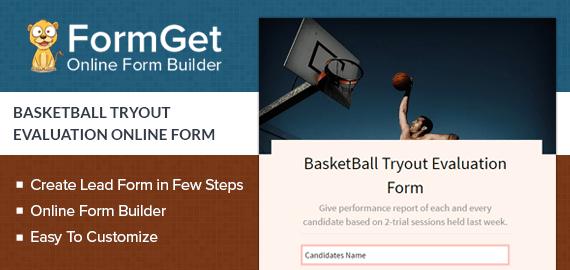 Basketball Tryout Evaluation Slider