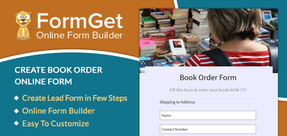 Book Order Form Slider