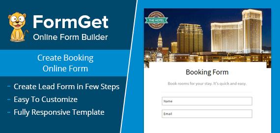 Booking Form Slider