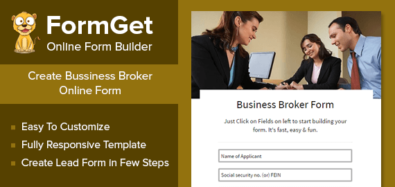 Business Broker Form Slider