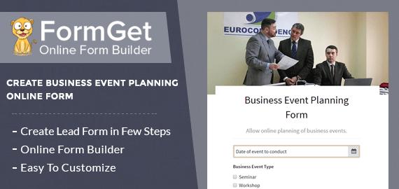 Business Event Planning Form Slider