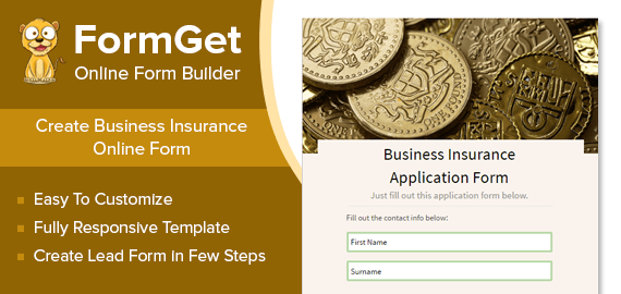 Business Insurance Form Slider