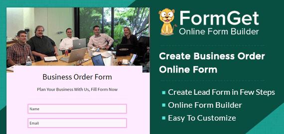 Business Order Form Slider