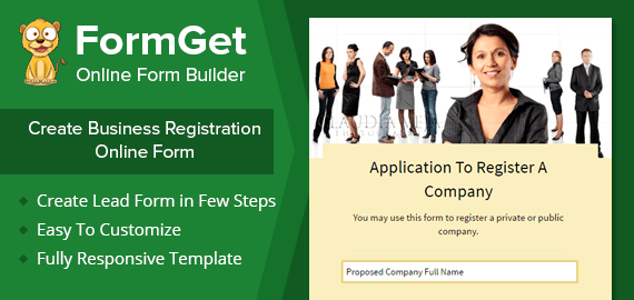 Business Registration Form Slider