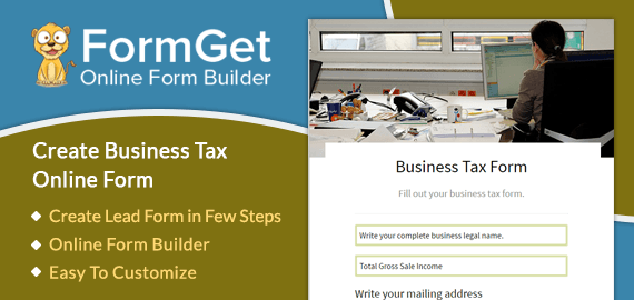 Business Tax Form Slider
