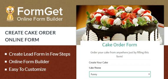 Cake Order Form Slider