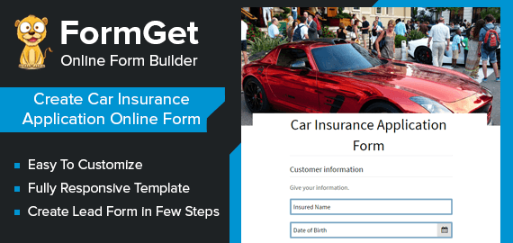 Car Insurance Application Form Slider