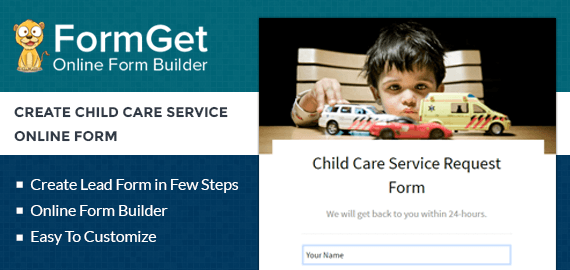 Create Child Care Service Request Form For BabySitters & Nursemaid Agency