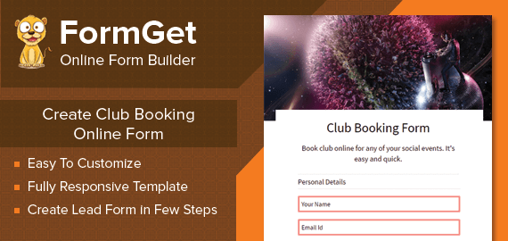 Club Booking Form Slider